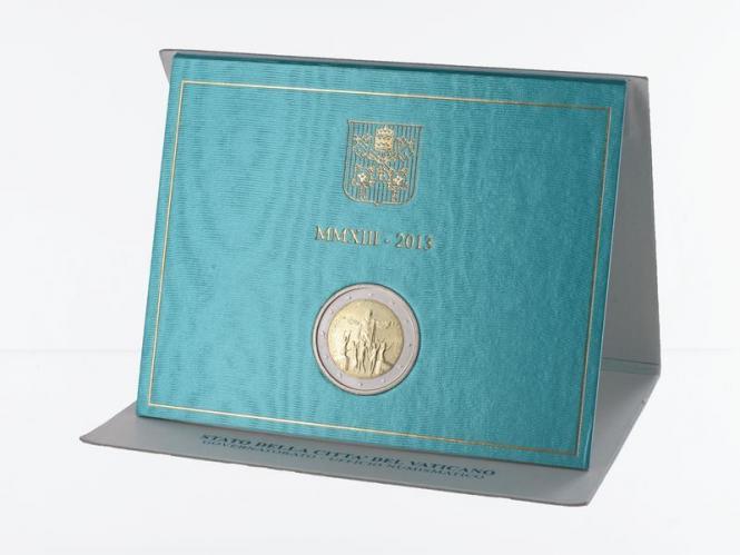 Vatikan 2 Euro Münze, 2013, Rio de Janeiro im Folder