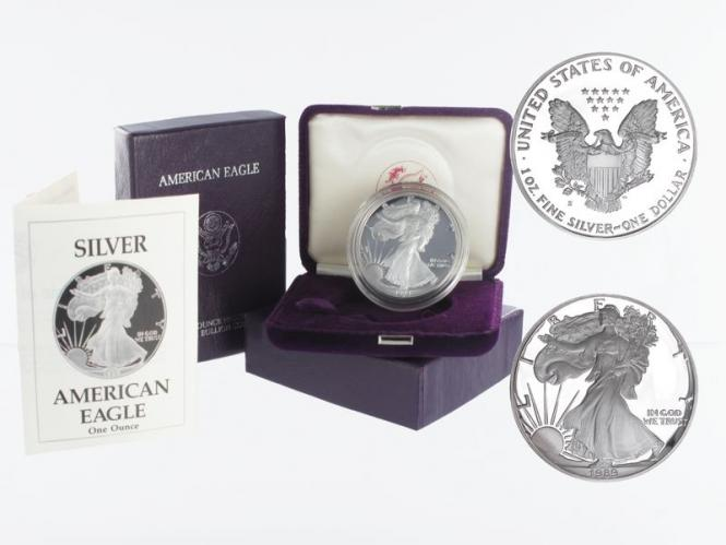 USA 1 Dollar Silver Eagle 1989 PP (proof), (B+C)