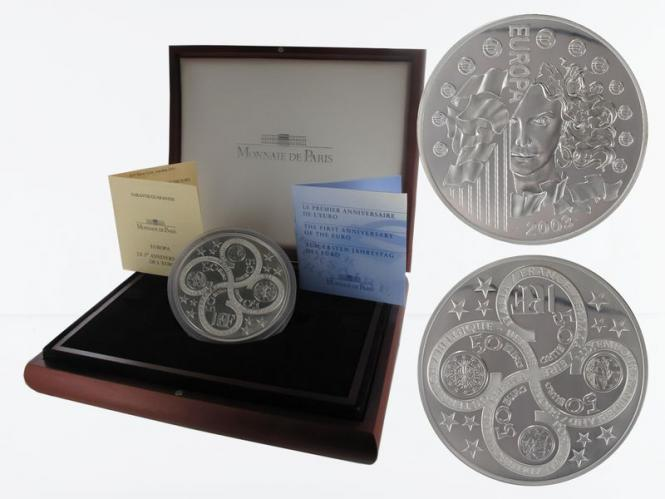 Frankreich 50 Euro 2003 Europa 1 Kg Silber PP