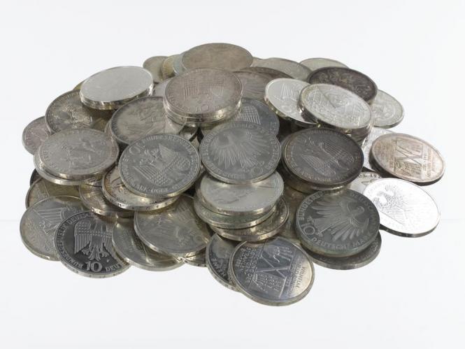 BRD 10 DM Gedenkmünzen 1972-97 (100)