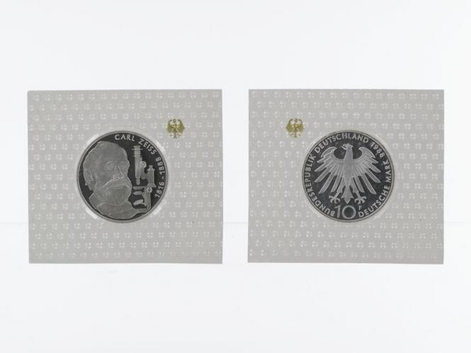 Carl Zeiss 1988, 10 DM Silber, PP