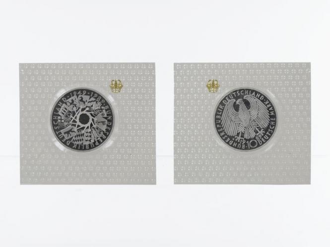 40 J. Bundesrepublik 1989, 10 DM Silber, PP