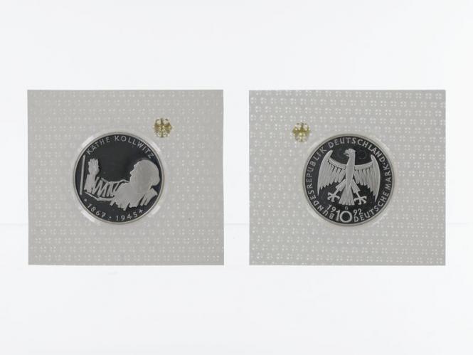 Käthe Kollwitz 1992, 10 DM Silber, PP