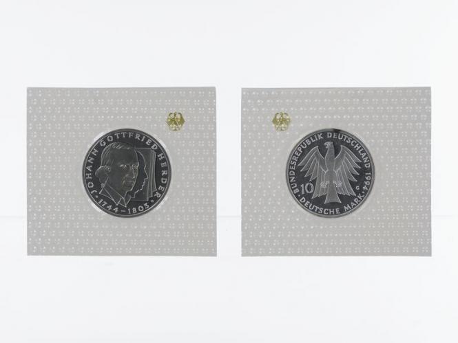 Johann Gottfried Herder 1994, 10 DM Silber, PP