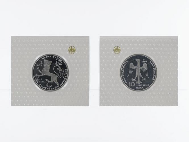 Heinrich der Löwe 1995, 10 DM Silber, PP