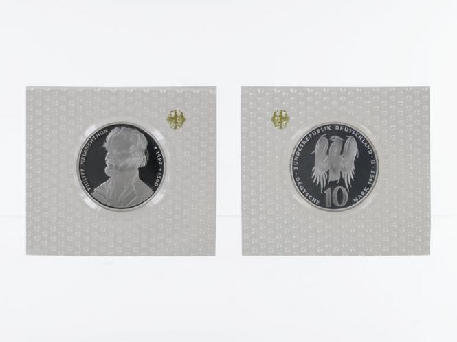 Philipp Melanchthon 1997, 10 DM Silber, PP