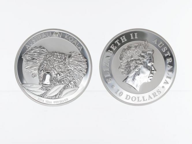 Australien 10 $ Koala 2014, 10 Unzen  Silber