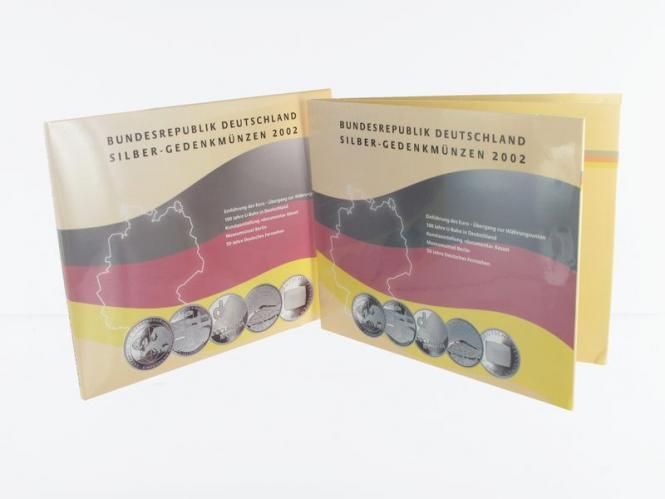 10 € Gedenkmünzenset 2002 (5) Blister kpl. PP