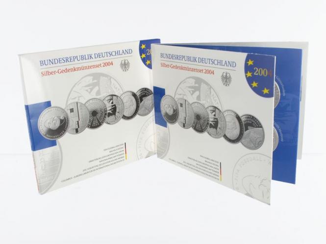 10 € Gedenkmünzenset 2004 (6) Blister kpl. PP