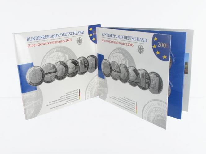 10 € Gedenkmünzenset 2005 (6) Blister kpl. PP