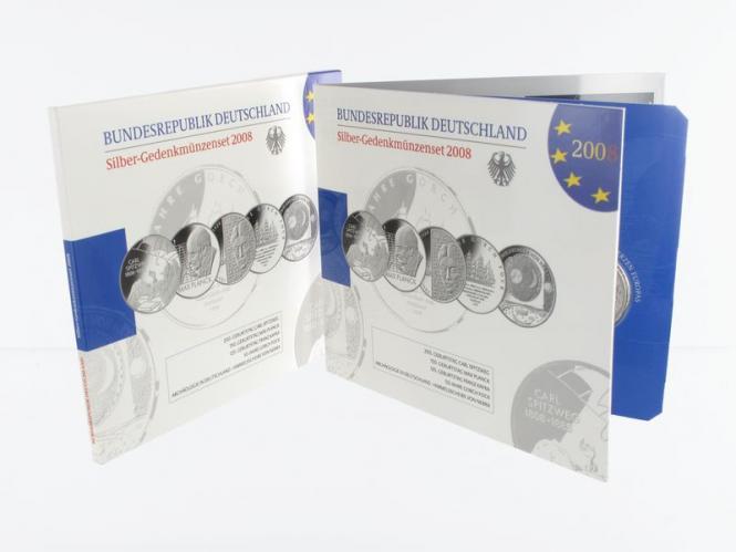 10 € Gedenkmünzenset 2008 (5) Blister kpl. PP