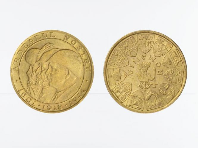 Rumänien 20 Lei Gold, 1944 Rumänische Könige