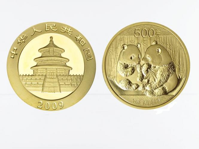 China 500 Yu  Panda 2009, 1 Unze Feingold