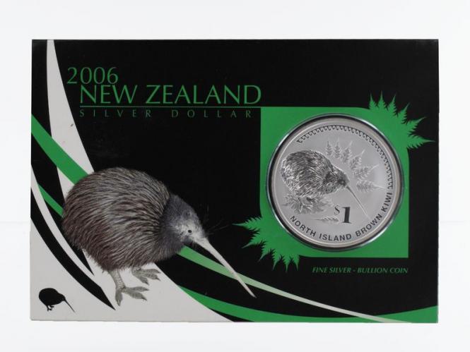 Neuseeland 1$ Kiwi 2006 Blister, 1 oz  Silber