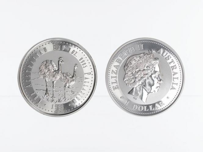 Australien 40$ Emu 1998, 1 oz Palladium