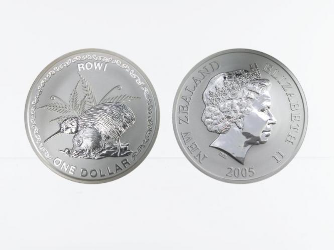 Neuseeland 1$ Kiwi 2005, 1 oz  Silber