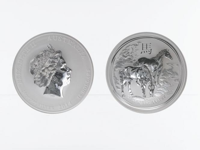 Australien 10$ Pferd Lunar II  2014, 10 oz  Silber