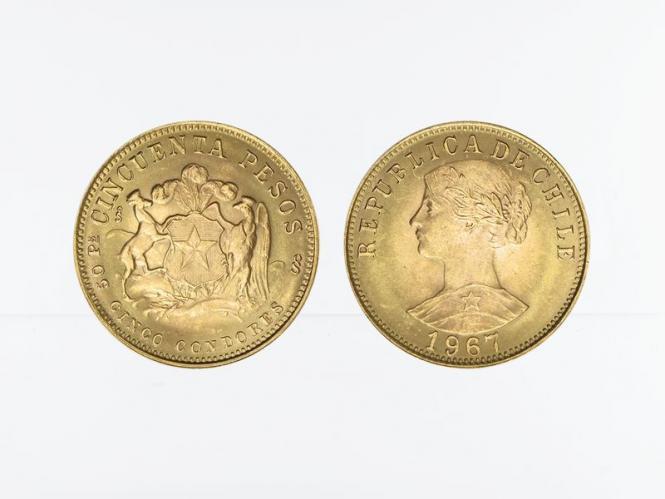 Chile 50 Pesos Freiheitskopf 1967