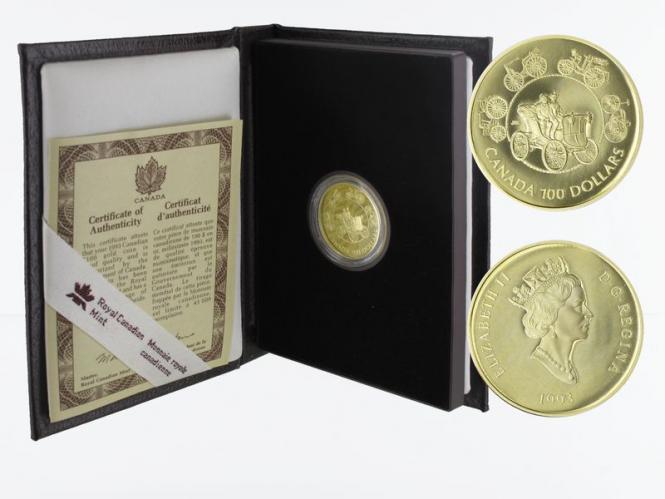 Kanada Elektroauto 100 Dollars 1993,  proof