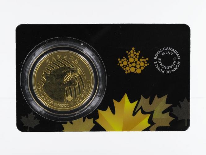 Kanada 200 Dollar Maple Leaf 2015, Growling Cougar