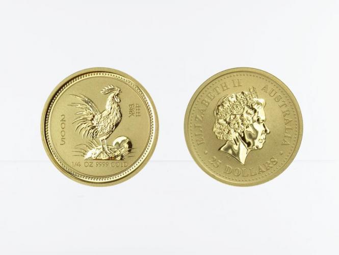 Australien 25 $ Lunar I  Hahn, 1/4 Unze  2005