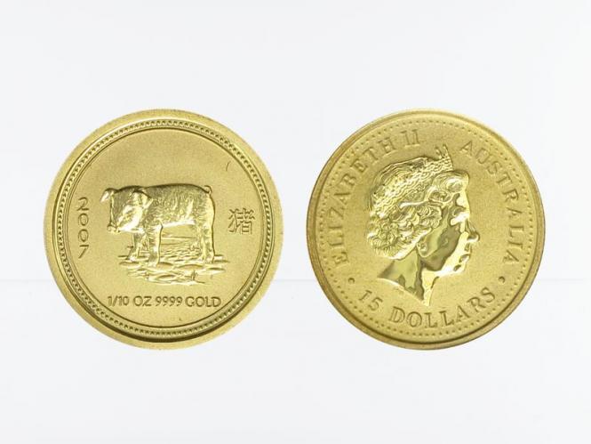 Australien 15$ Lunar I Schwein, 1/10 Unze  2007