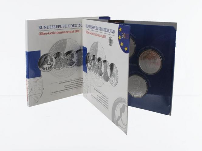 10 € Gedenkmünzenset 2013 (5) Blister kpl. PP