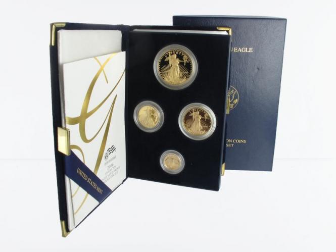 USA Gold Eagle 2006 Jahressatz 4 Werte, PP (B)
