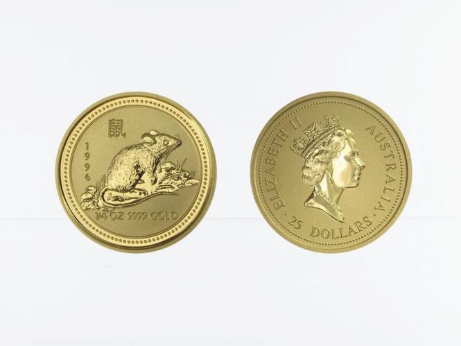 Australien 25 $ Lunar I  Maus, 1/4 Unze  1996