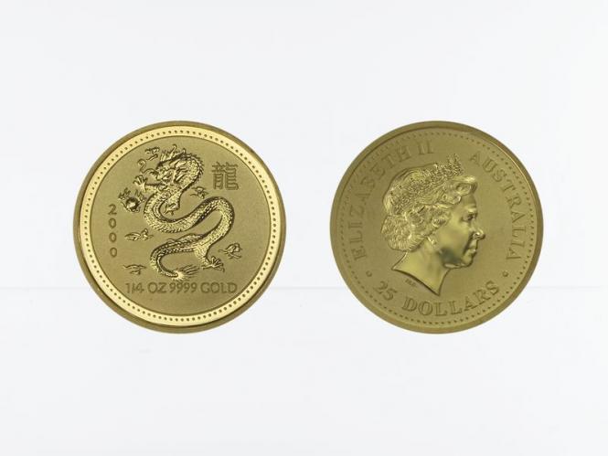 Australien 25 $ Lunar I  Drache, 1/4 Unze  2000
