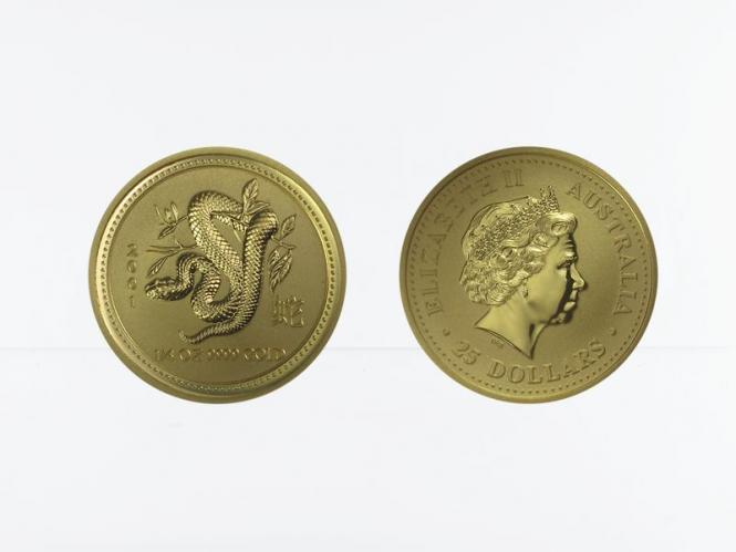 Australien 25 $ Lunar I  Schlange, 1/4 Unze  2001