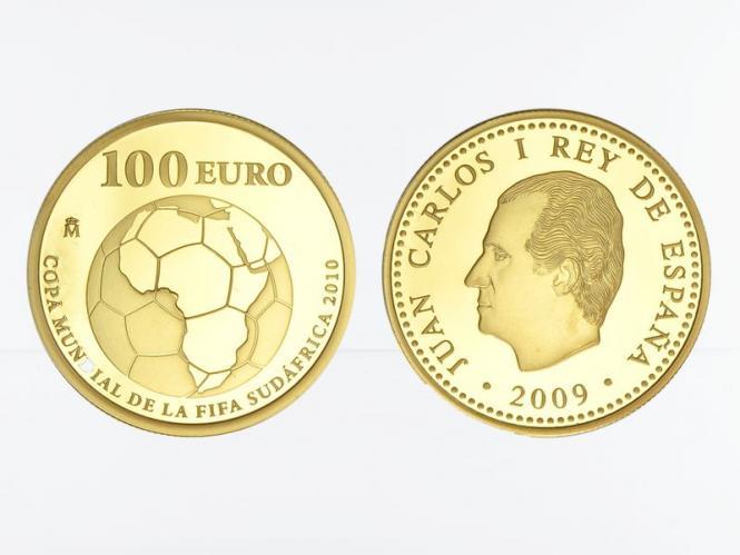 Spanien 100 Euro Gold, 2009, Fußball WM 2010