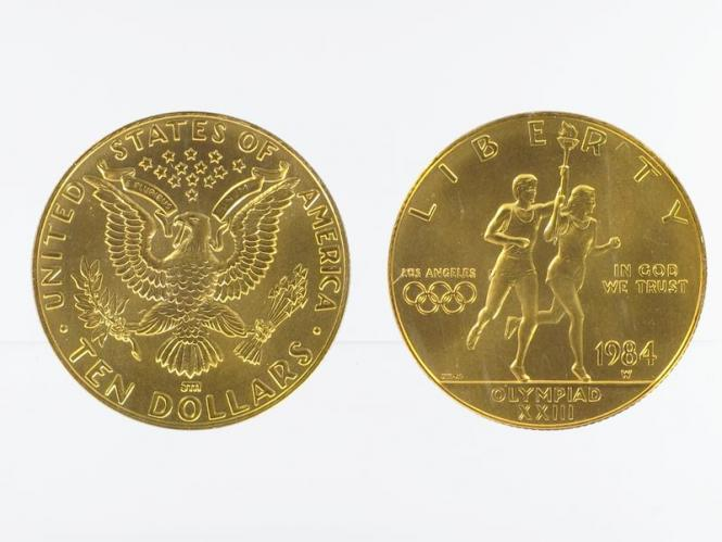 USA 10 $  Gold, Fackelläufer 1984 (W)
