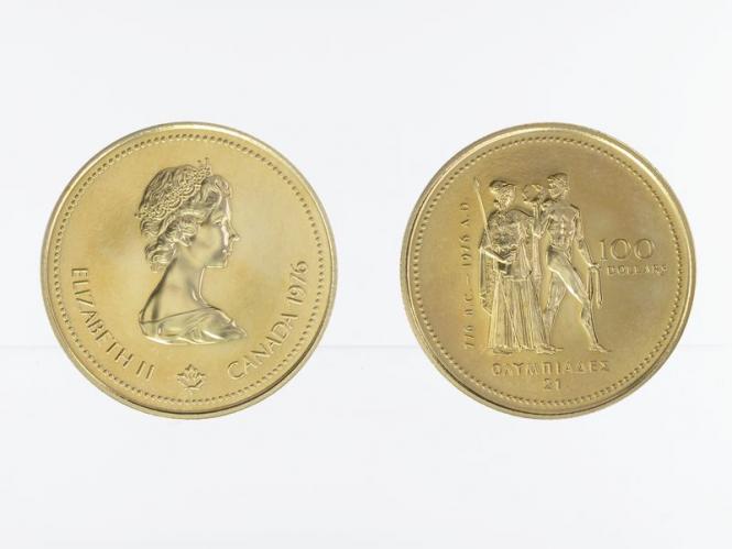 Kanada Göttin Athene 100 Dollars 1976, 1/4 oz