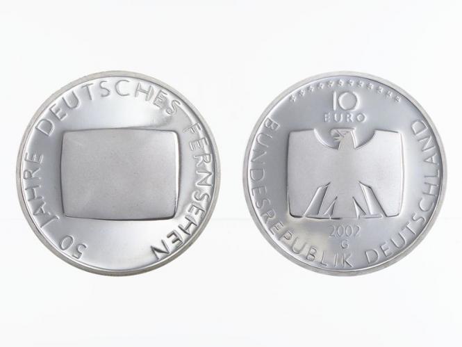 Deutsches Fernsehen 10 € Silber, PP