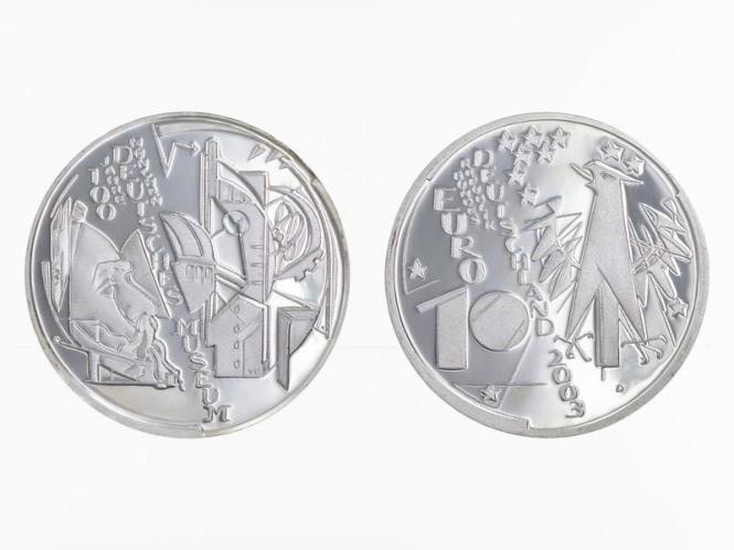 Deutsches Museum München 10 € 2003 Silber, PP