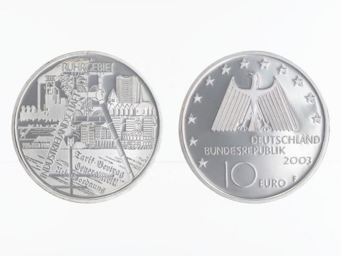 Industrielandschaft Ruhrgebiet 10 € Silber, PP