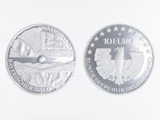 Nationalpark Bayrischer Wald 10 € Silber, PP