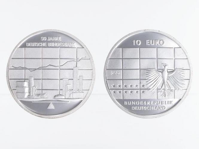 Deutsche Bundesbank 10 € Silber, PP