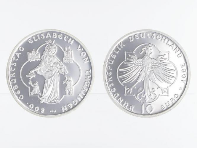 Elisabeth von Thüringen 10 € 2007 Silber, PP