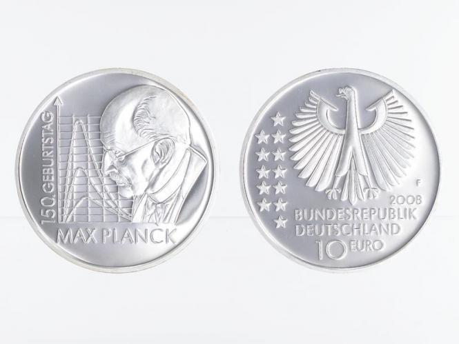 Max Planck 10 € Silber, PP