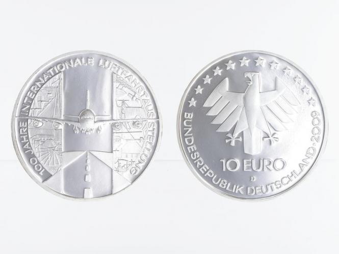 Internationale Luftfahrtausstellung 10 € Silber, PP