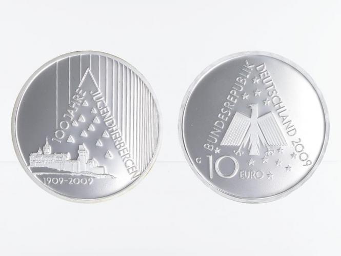 Deutsches Jugendherbergswerk 10 € Silber, PP