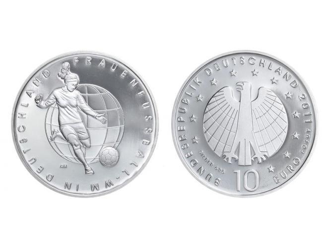 Frauen-Fußball WM 10 € Silber, PP