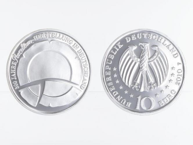 Porzellanherstellung 10 € Silber, PP