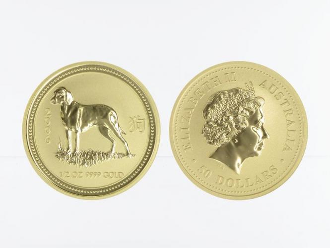 Australien 50 $ Lunar I Hund, 1/2 Unze  2006
