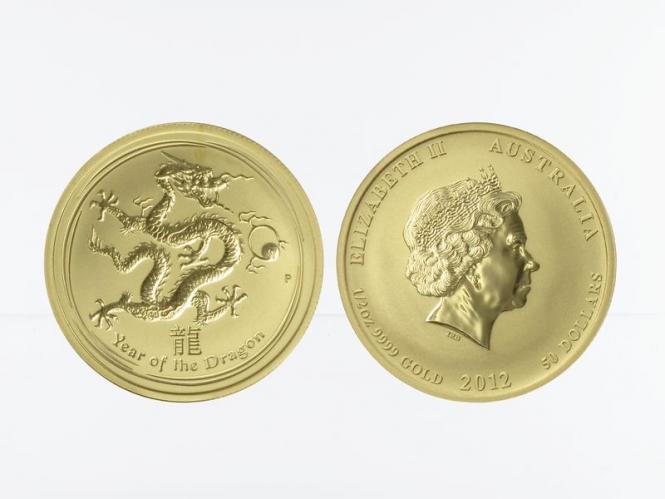 Australien 50 $ Lunar II Drache, 1/2 Unze 2012