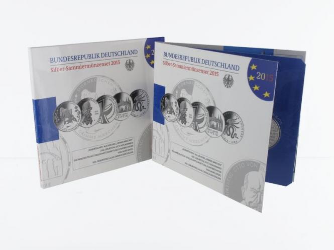 10 € Gedenkmünzenset 2015 (5) Blister kpl. PP