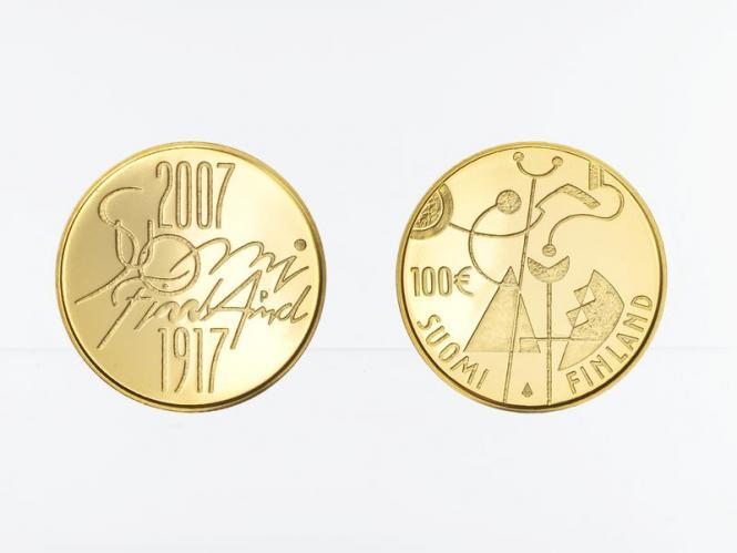 Finnland 100 Euro Gold, 2007, Unabhängigkeit, original