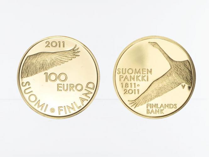 Finnland 100 Euro Gold, 2011, 200 Jahre finnische Bank